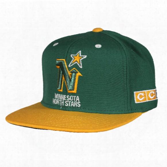 Minnesota North Stars Ccm Vintage 2-tone Snapback Cap