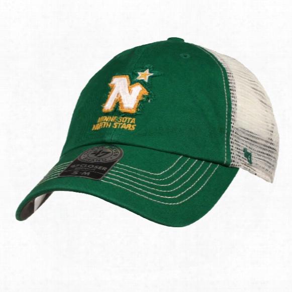 Minnesota North Stars Vintage Rip Current Stretch Fit Cap (green)