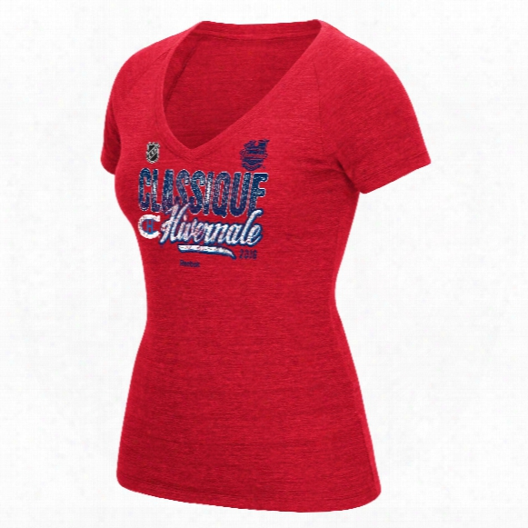 Montreal Canadiens 2016 Nhl Winter Classic Women's Scribble Tri-blend V-neck