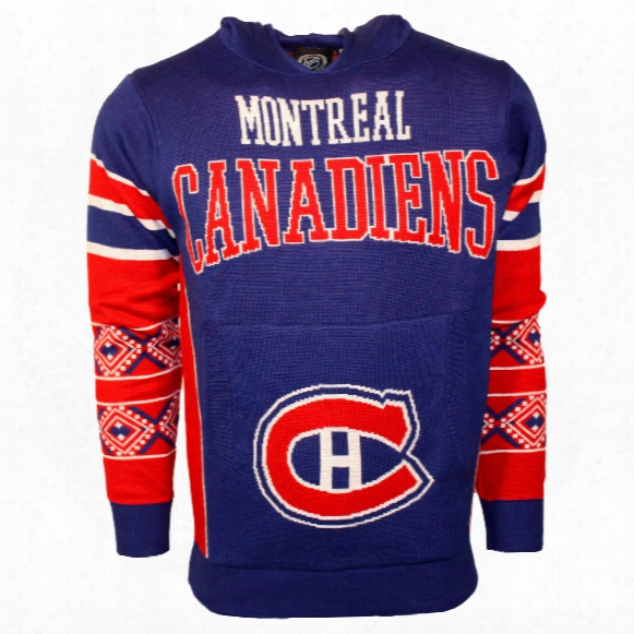 Montreal Canadiens Nhl 2015 Big Logo Ugly Pullover Hoodie Sweater