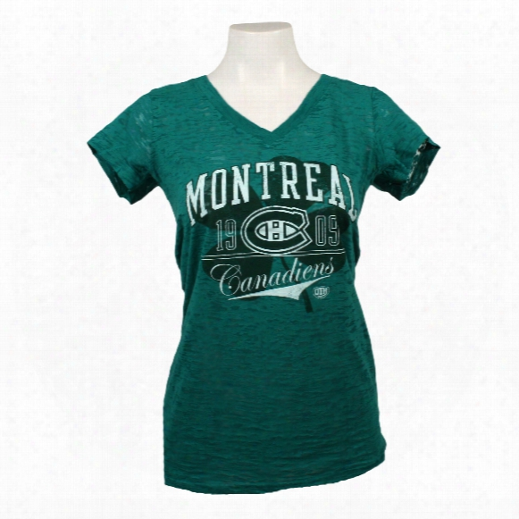 Montreal Canadiens Women's Kaleva Burnout T-shirt
