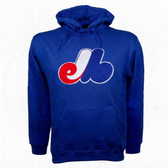 Montreal Expos Cooperstown Youth Twill Logo Hoody (royal)