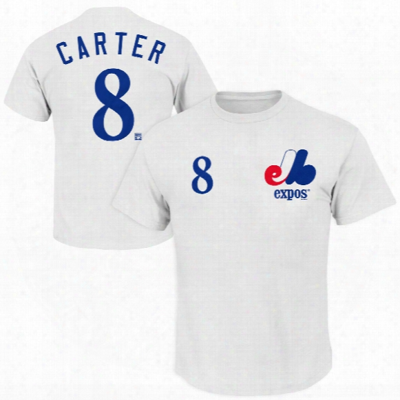 Montreal Expos Gary Carter Cooperstown Player Name & Number T-shirt (white)