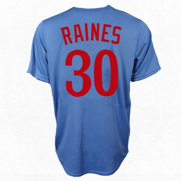 Montreal Expos Tim Raines Cooperstown Fan Replica Road Cool Base Baseball Jersey
