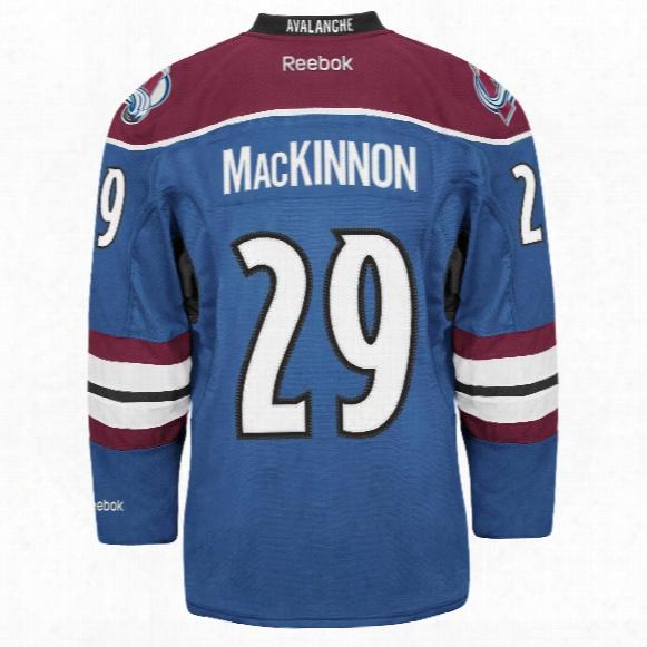 Nathan Mackinnon Colorado Avalanche Reebok Premier Replica Alternate Nhl Hockey