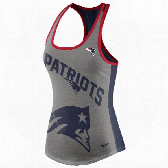 New England Patriots Women's Dri-fit Nfl Touchdown Racer Back Tank