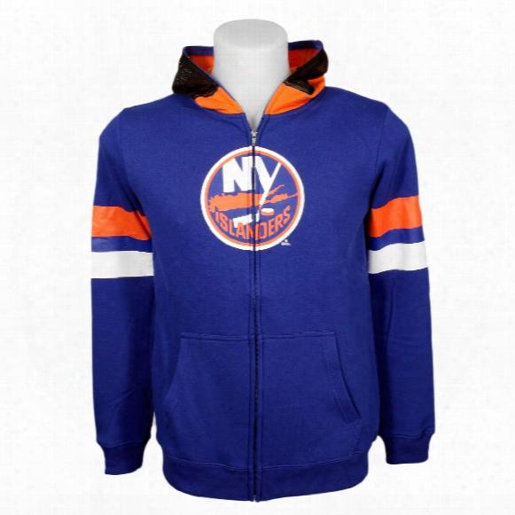 New York Islanders Youth Nhl Goalie Mask Full Zip Hoodie