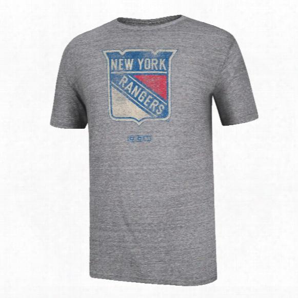New York Rangers Ccm Big Logo Tri-blend T-shirt