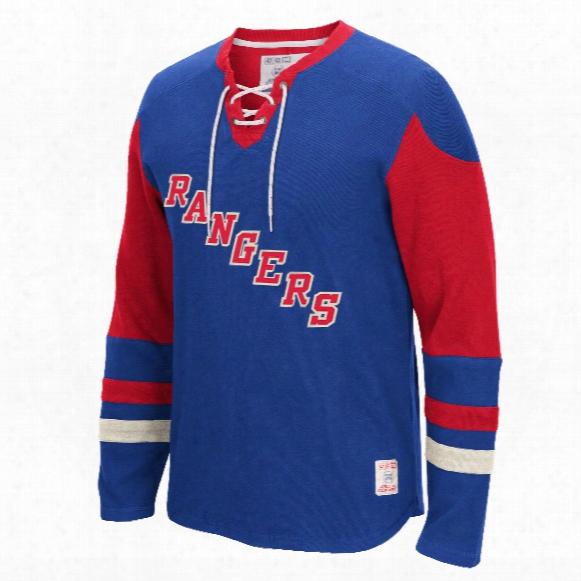 New York Rangers Ccm Retro Long Sleeve Jersey Crew