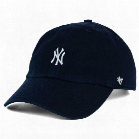 New York Yankees Base Runner Micro Logo Clean Up Cap - Navy