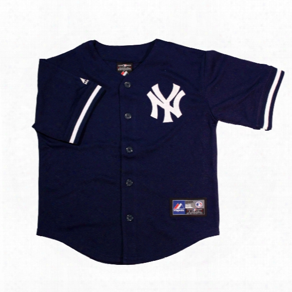 New York Yankees Majestic Child Alternate Replica Baseball Jersey (navy)