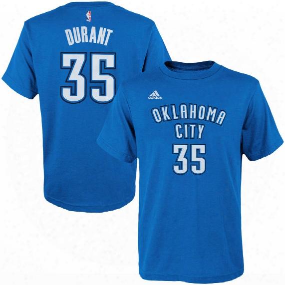 Oklahoma City Thunder Kevin Durant Nba Name & Number T-shirt