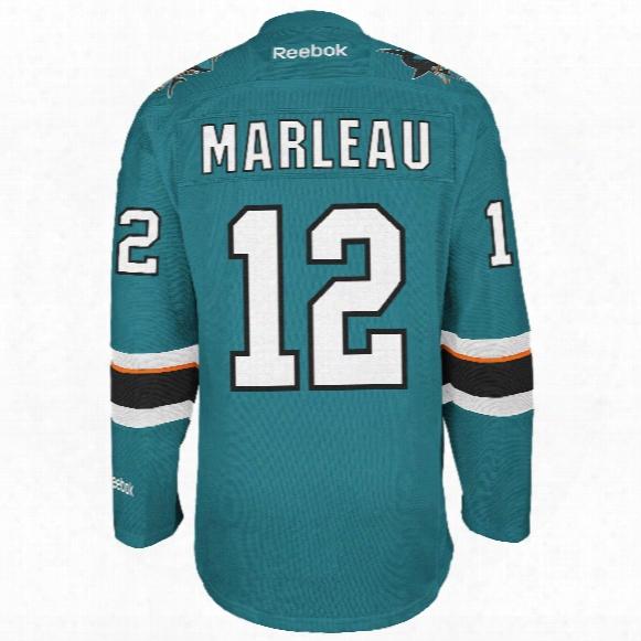Patrick Marleau San Jose Sharks Reebok Premier Replica Home Nhl Hockey Jersey