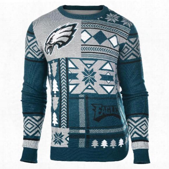 Philadelphia Eagles Nfl 2015 Patches Ugly Crewneck Sweater