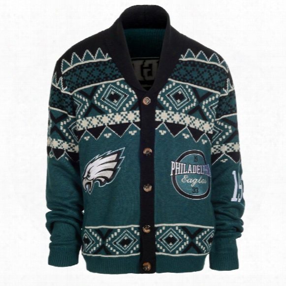 Philadelphia Eagles Nfl Ugly Knit Cardigan Sweater