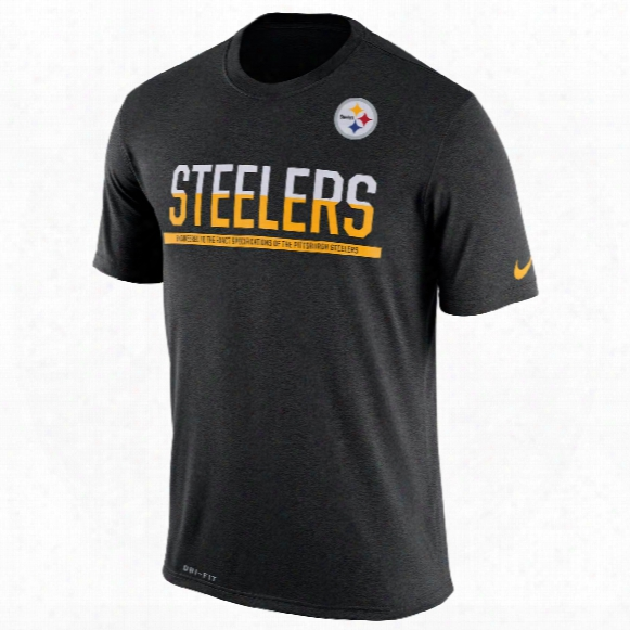 Pittsburgh Steelers Nfl Nike Team Practice Light Speed Dri-fit T-shirt