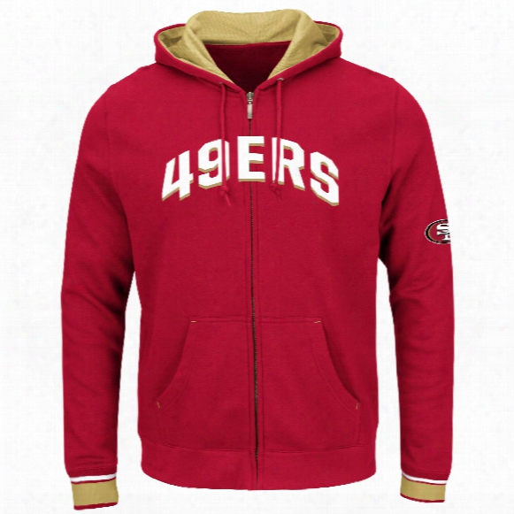 San Francisco 49ers Anchor Point Full Zip Nfl Hoodie