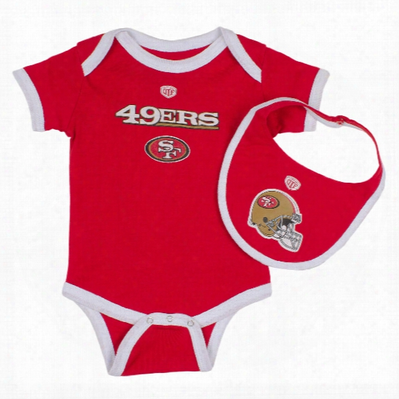 San Francisco 49ers Baby 2-pc Knick Knack Creeper And Bib Set