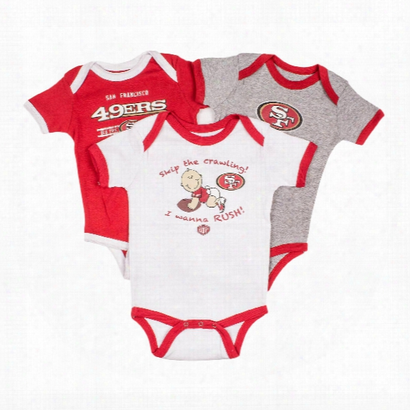 San Francisco 49ers Baby 3-pc Field Goal Creeper Set