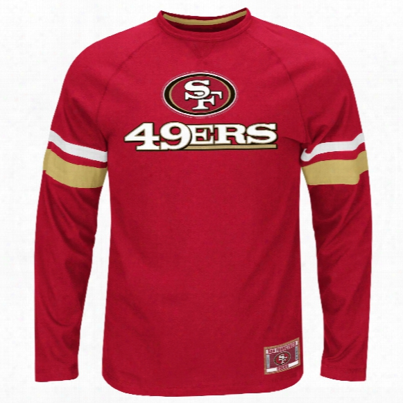 San Francisco 49erspower Hit Long Sleeve Nfl T-shirt With Felt Applique