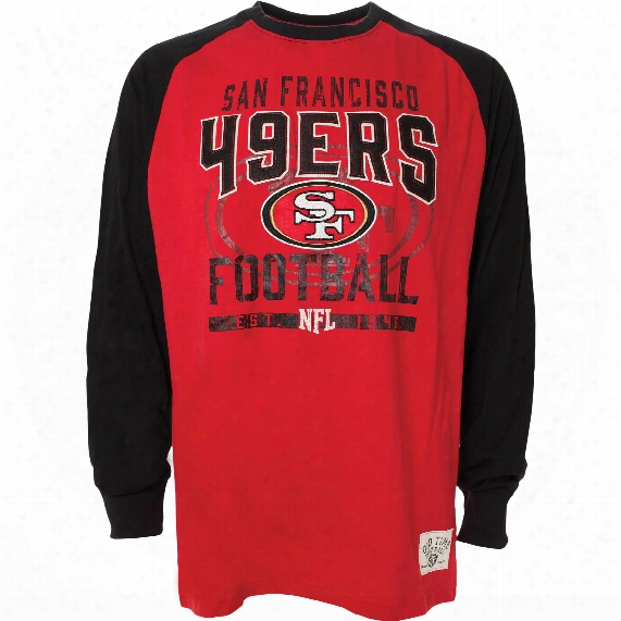 San Francisco 49ers Sweep Felt Applique Long Sleeve Jersey T-shirt