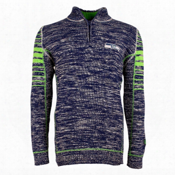 Seattle Seahawks Nfl Slant Plated 7 Gauge Sweater
