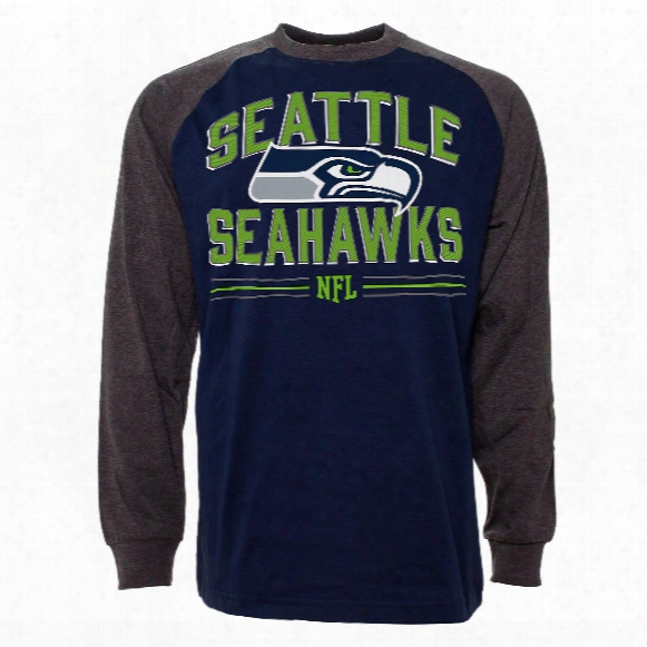 Seattle Seahawks Scramble Raglan Long Sleeve Jersey T-shirt