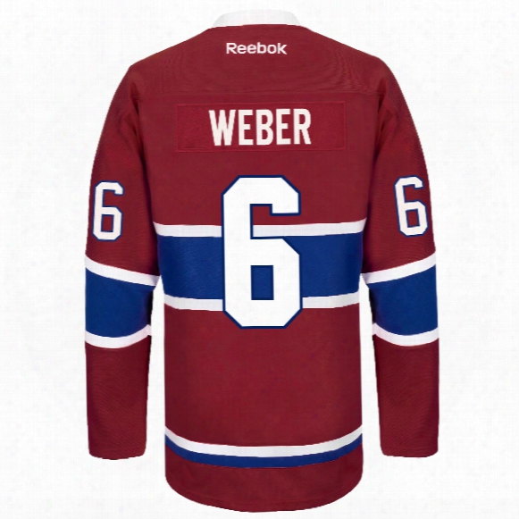 Shea Weber Montreal Canadiens Reebok Premier Replica Home Nhl Hockey Jersey