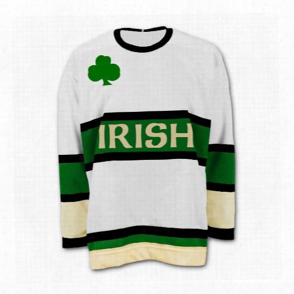 St. Patrick's Irish Murphy Replica White Hockey Jersey
