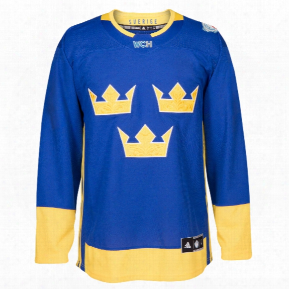 Sweden Hockey 2016 World Cup Of Hockey Premier Replica Blue Jersey