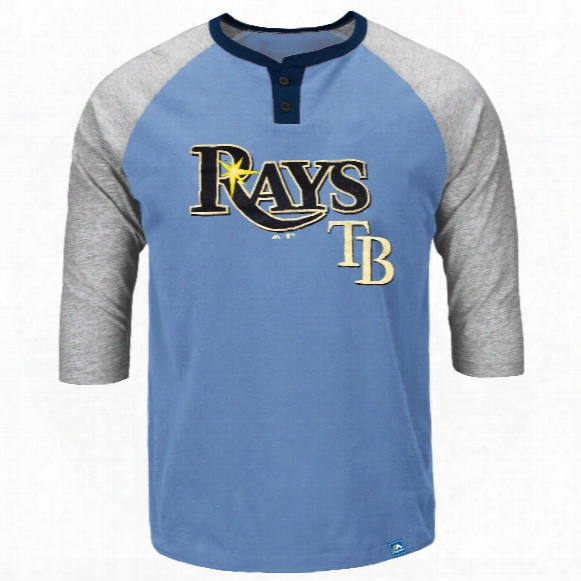 Tampa Bay Rays Force Play 3 Quarter Sleeve Henley