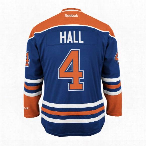 Taylor Hall Edmonton Oilers Reebok Premier Replica Home Nhl Hockey Jersey
