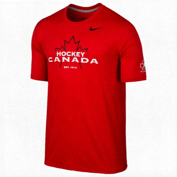 Team Canada Iihf Dri-fit Legend Icon T-shirt (red)