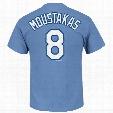 Kansas City Royals Mike Moustakas MLB Player Name & Number T-Shirt (Coastal