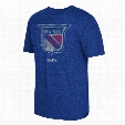 New York Rangers CCM Retro Logo Tri-Blend T-Shirt