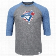 Toronto Blue Jays Cooperstown Two To One Margin 3/4 Raglan T-Shirt