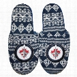 Winnipeg Jets Men's Aztec Knit Slippers