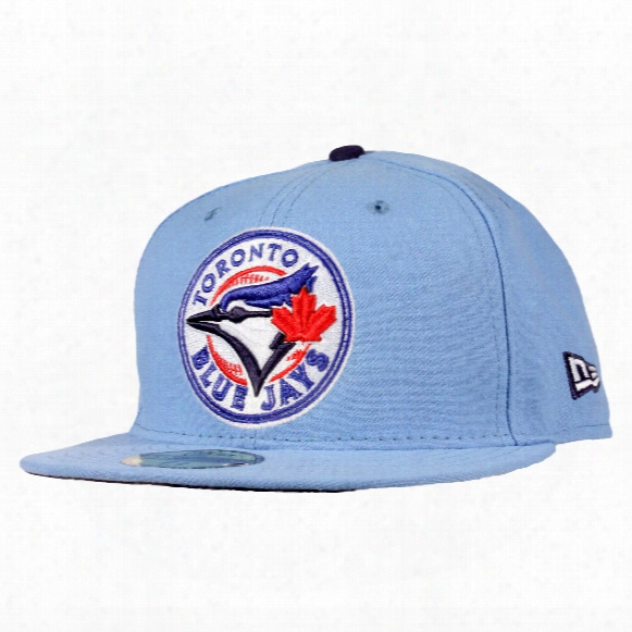Toronto Blue Jays Auth Entic Fitted Mlb Baseball Cap (sky Blue)