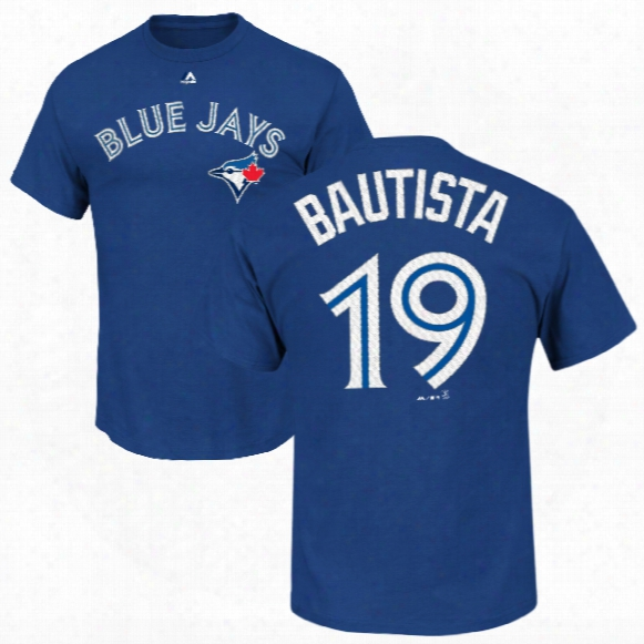Toronto Blue Jays Jose Bautista Mlb Player Name & Number T-shirt