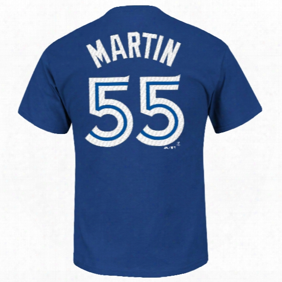 Toronto Blue Jays Russell Martin Mlb Player Name & Number T-shirt