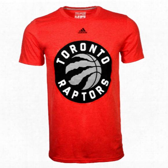 Toronto Raptors Adidas Nba Primary Logo Heathered T-shirt