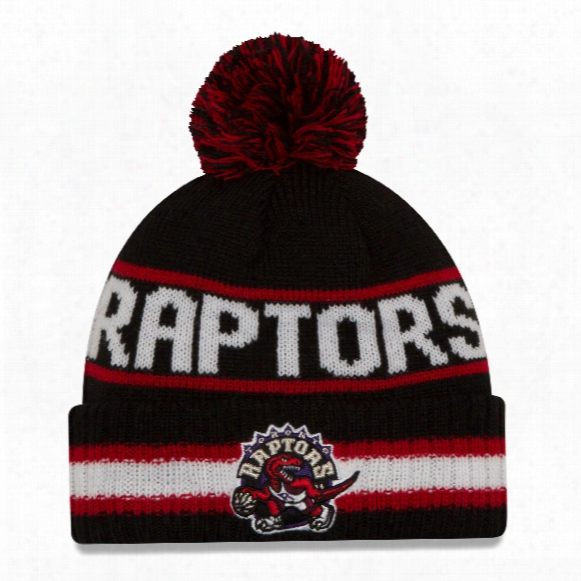 Toronto Raptors New Era Nba Cuffed Vintage Select Pom Knit Hat