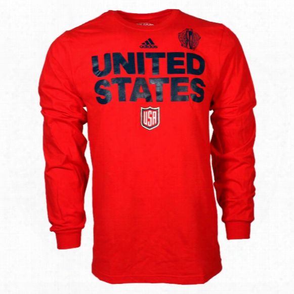Usa Hockey 2016 World Cup Of Hockey Team Font Go To Long Sleeve T-shirt (red)