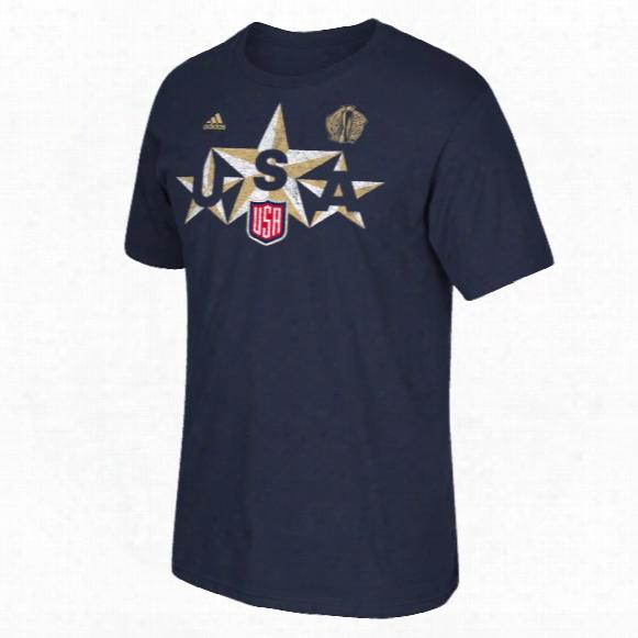 Usa Hockey 2016 World Cup Of Hockey Triple Star Go To T-shirt (navy)