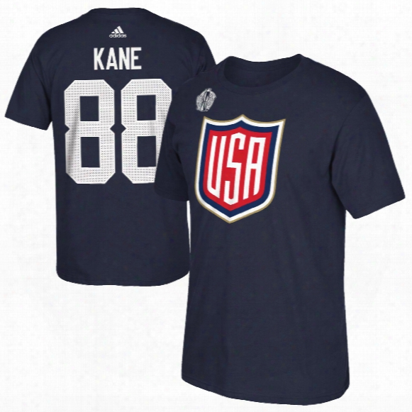 Usa Patrick Kane 2016 World Cup Of Hockey Player Name & Number T-shirt