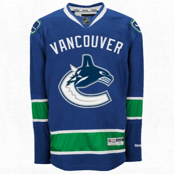 Vancouver Canucks Reebok Premier Replica Home Nhl Hockey Jersey