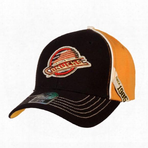 Vancouver Canucks Vintage Bancroft Stretch Fit Cap (skate Logo)