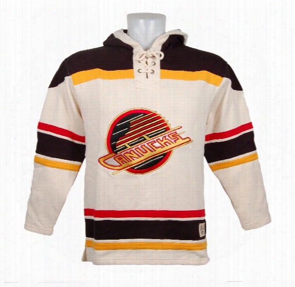 Vancouver Canucks Vintage Heavyweight Lacer Hoodie (skate Logo)