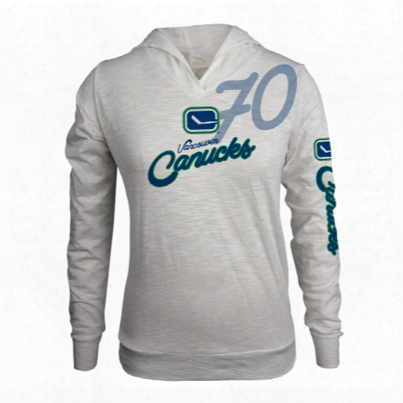 Vancouver Canucks Women's L'il Lefty Fx Long Sleeve Hoodie (off White)