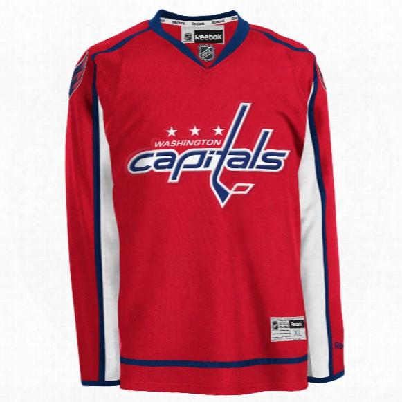 Washington Capitals Reebok Premier Replica Home Nhl Hockey Jersey